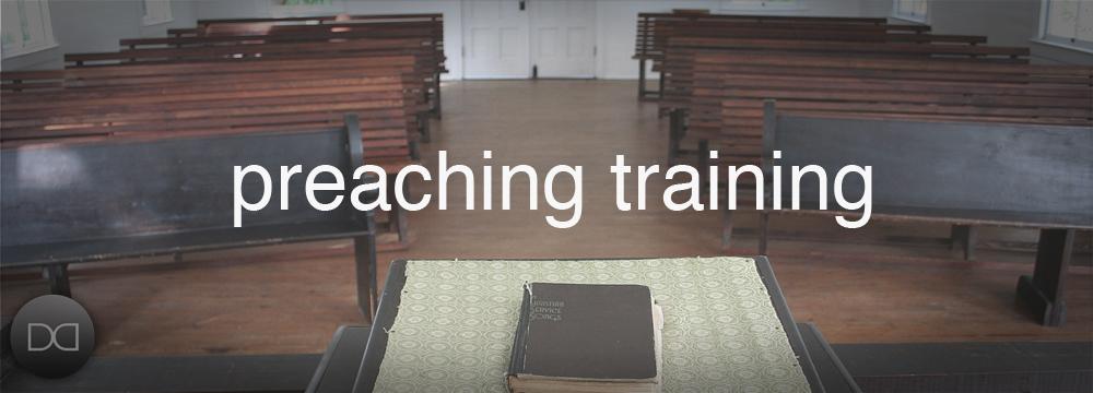 preaching traning